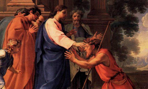 Jesús sana a un sordomudo